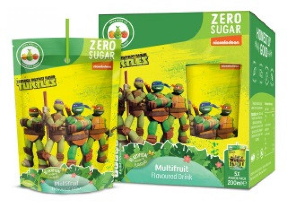 SALE  Teenage Mutant Ninja Turtles Multifruit Drink 5 x 200ml