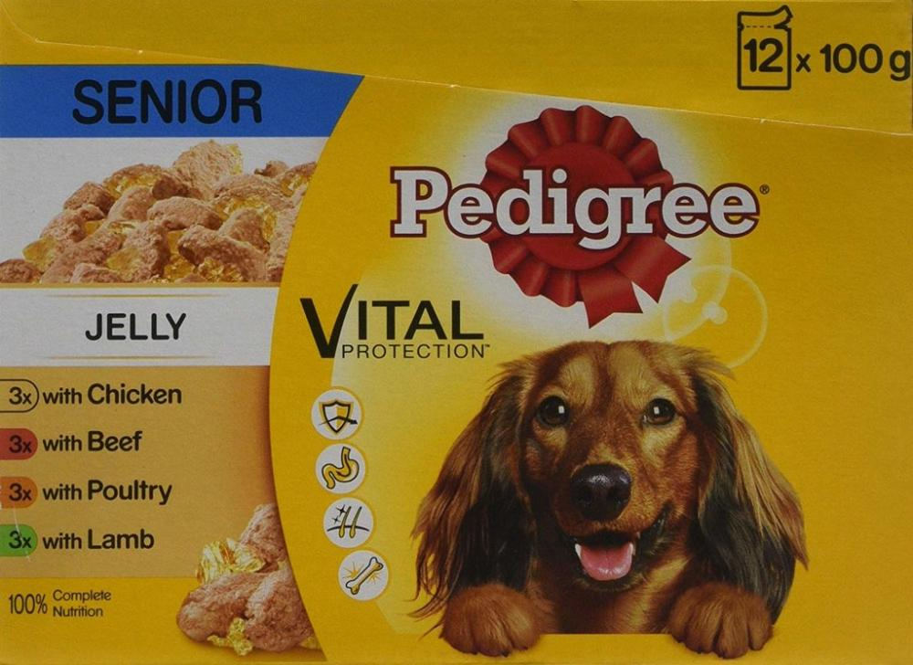 30 UNDER 30  Pedigree Vital Protection In Jelly Senior Dog Food LUCKY DIP 100g