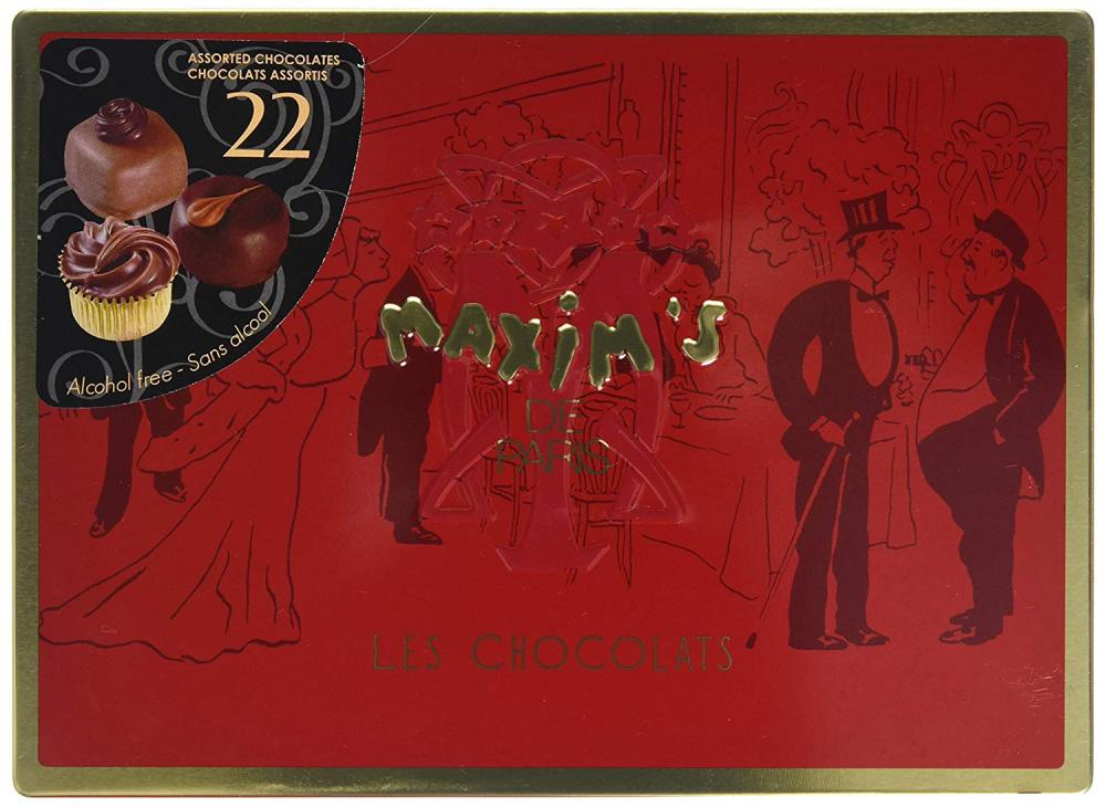 Maxims de Paris Assorted Chocolates in Red Tin 22 pieces 215 g