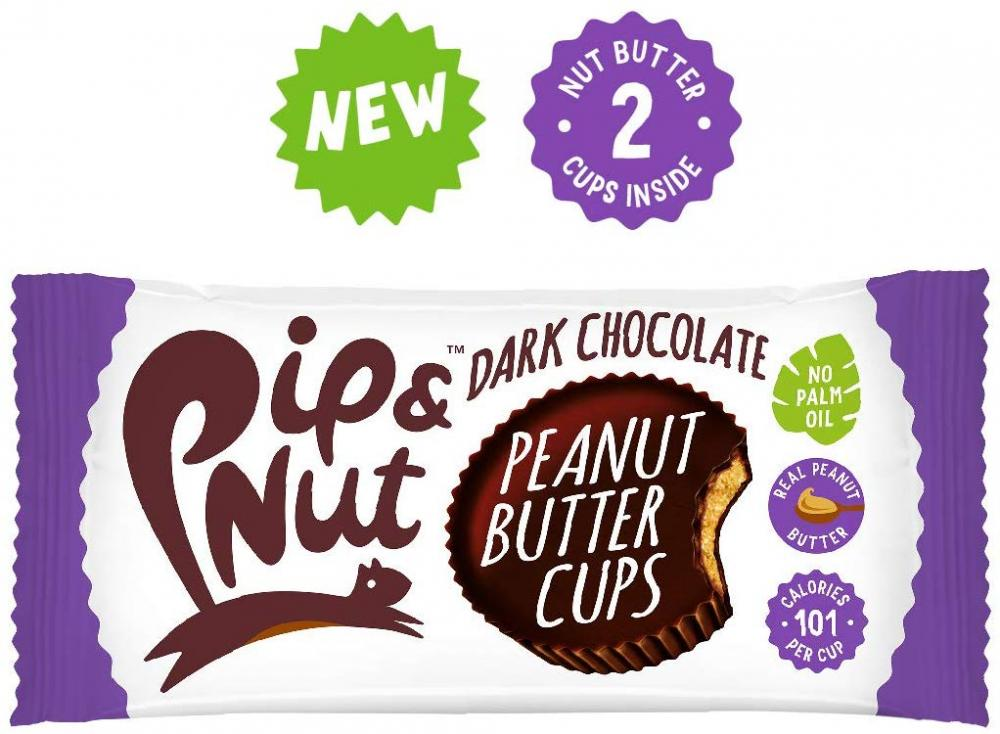 Pip and Nut Dark Chocolate Peanut Butter Cups 34g