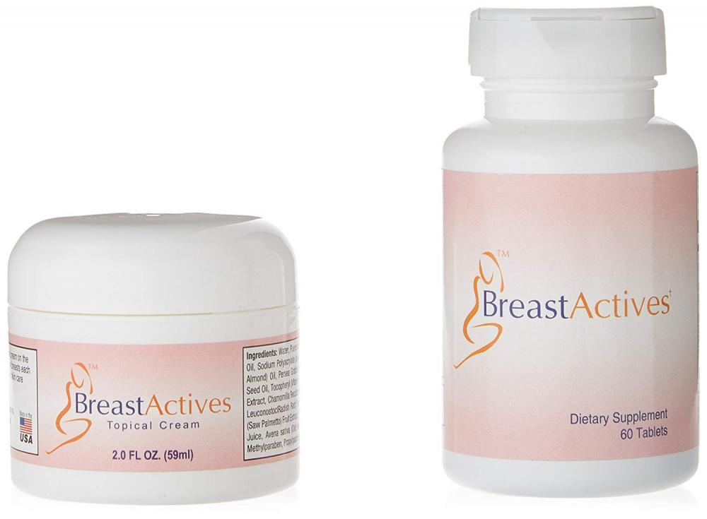 Breast Actives Supplement Capsules and Cream Combo Kit