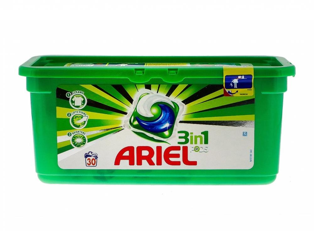 Ariel 3 in 1 Pods Regular Washing Tablets 30 Washes