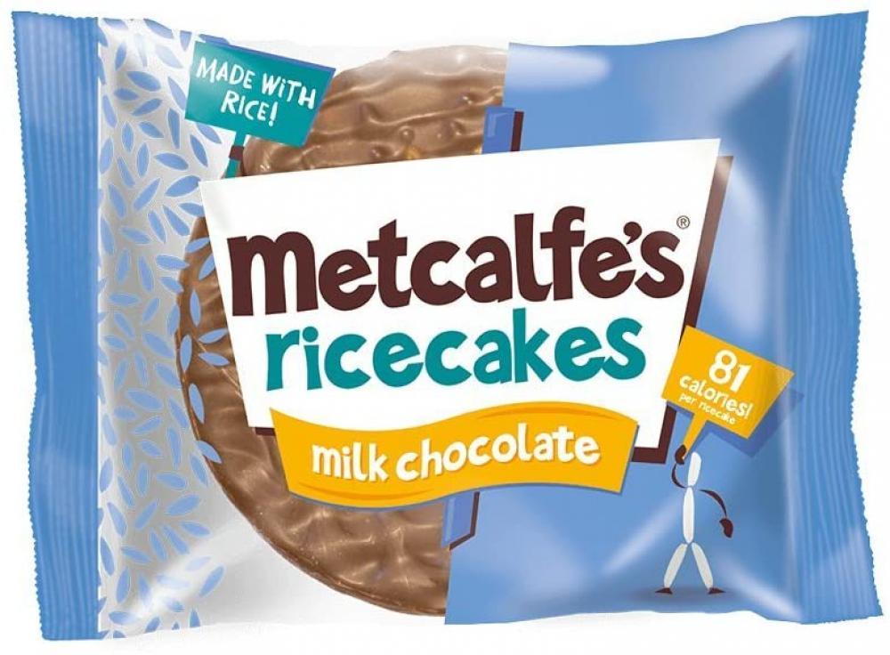 Metcalfes Ricecakes Milk Chocolate 34g