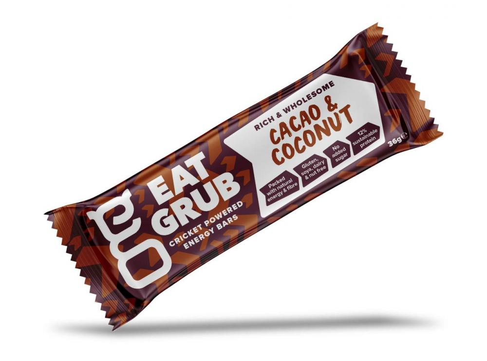 Eat Grub Natural Energy Bar - Coconut and Cacao 36 g