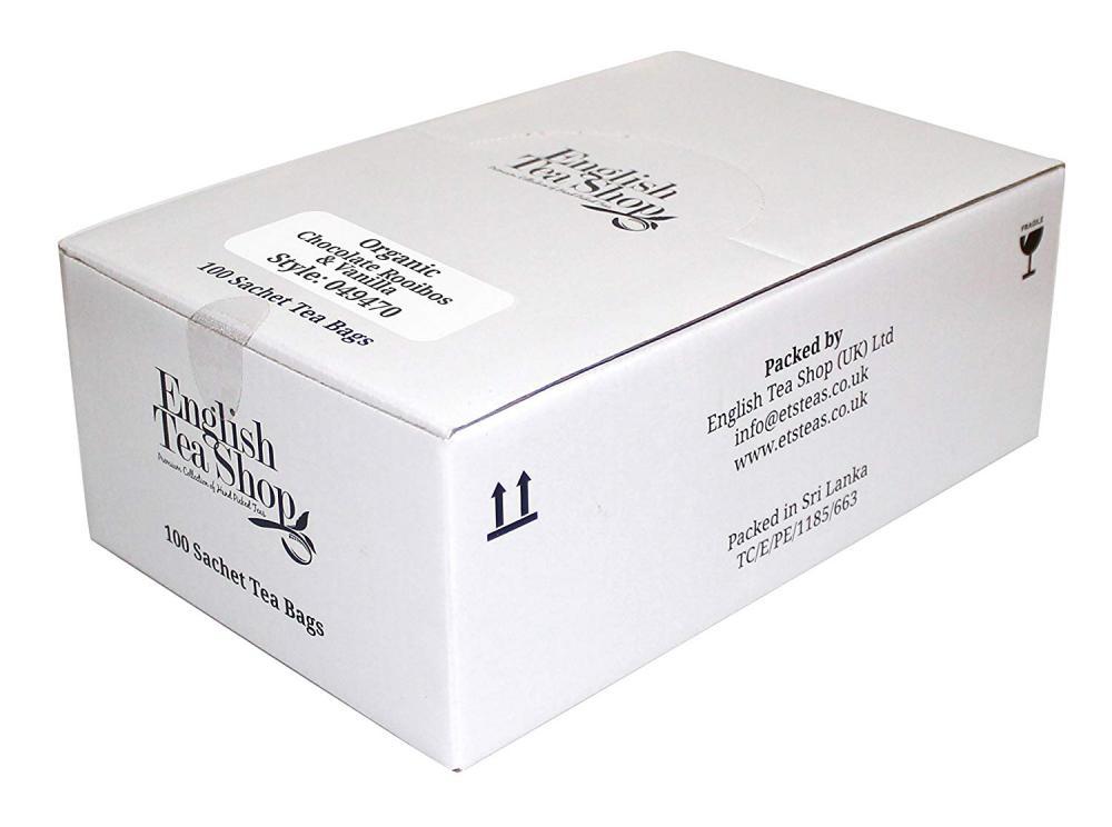 English Tea Shop Organic Chocolate Rooibos and Vanilla 100 Sachets