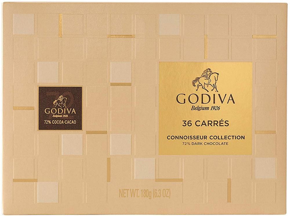 Godiva Connoisseur Collection 72 Dark Chocolate 36 Pieces