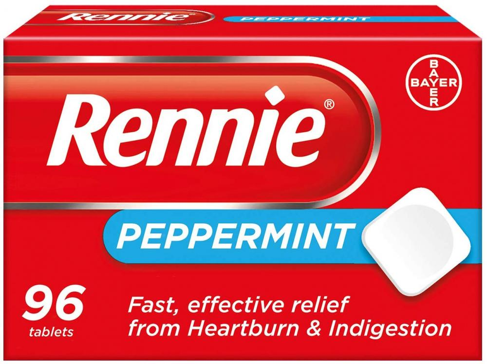 Rennie Peppermint Heartburn and Indigestion Tablets 96 Tablets