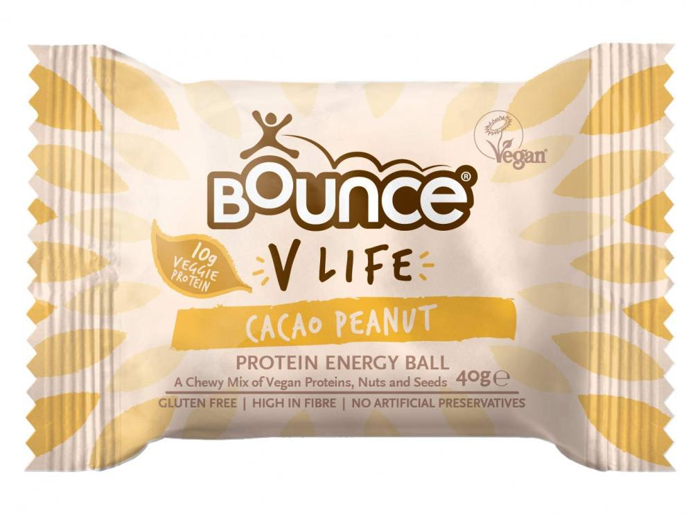 Bounce V Life Vegan Protein Energy Ball Cacao Peanut 40g