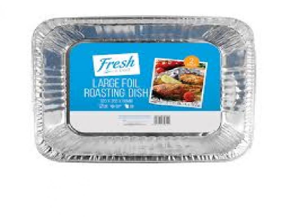 Fresh Is Best Large Foil Roasting Dish 2 Pack