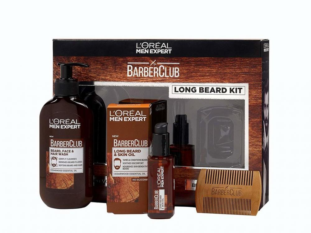 Loreal Paris Men Expert Long Beard Barberclub Collection 3 Piece Gift Set For Him Damaged Box