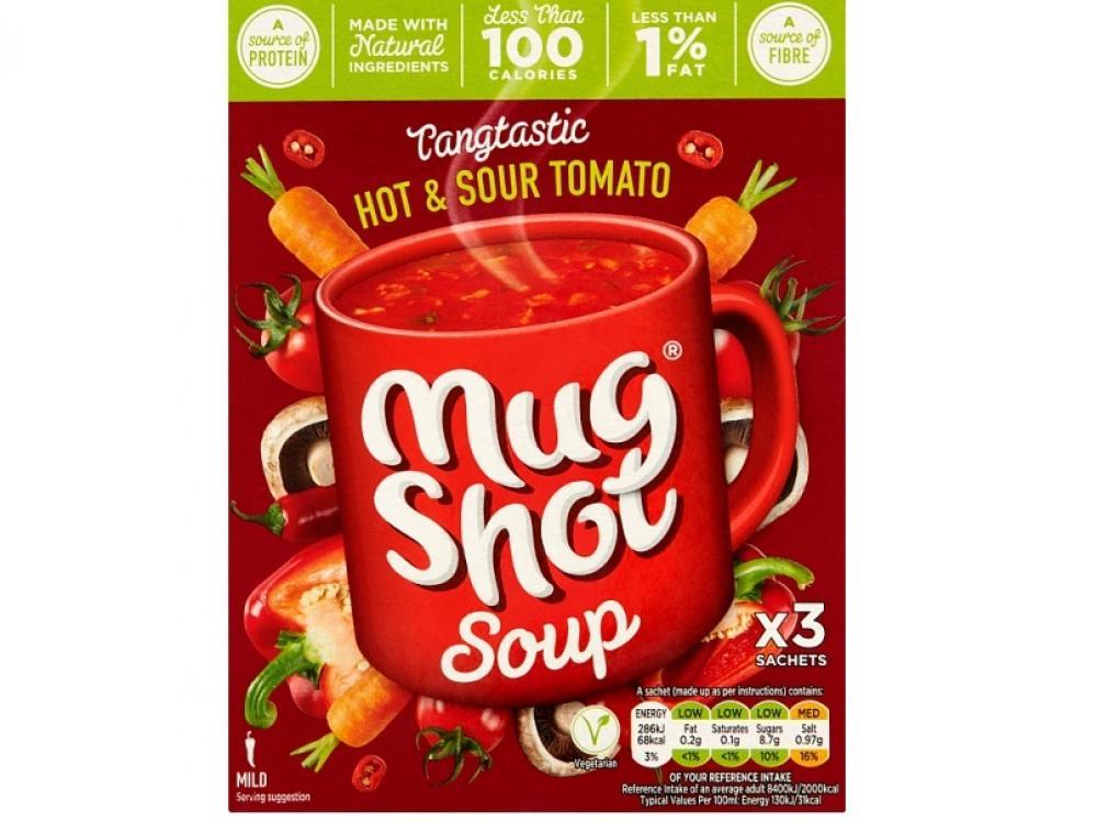 Mug Shot Soup Hot and Sour Tomato 3 Sachets 60g