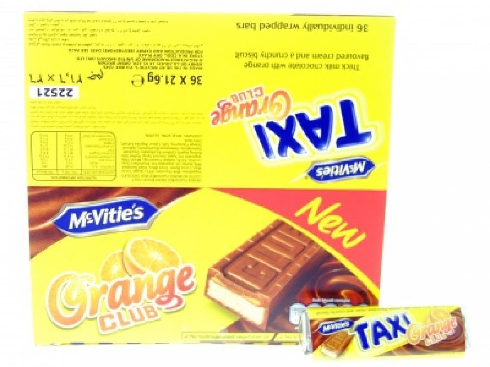 Case Price Mcvities Taxi Orange Club Bar 36 X 216g