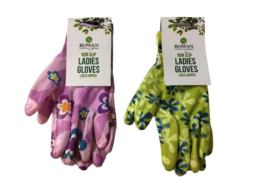 Rowan Non Slip Ladies Gloves Small Green or Pink