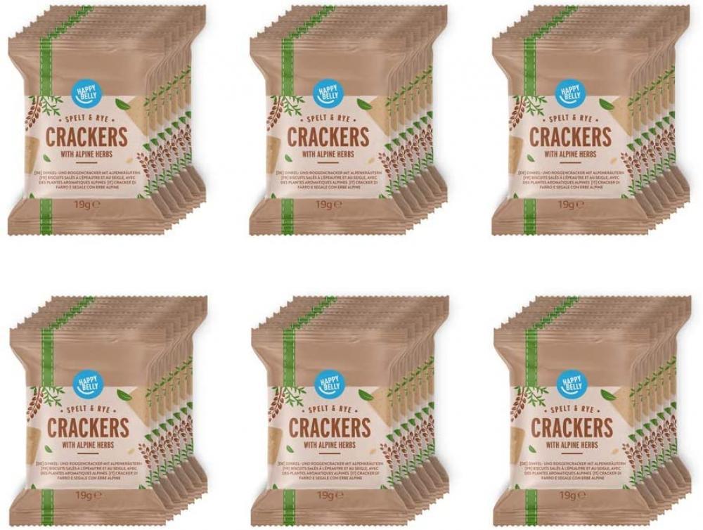 SALE  Happy Belly Spelt Cracker Alpine Herbs 133 g