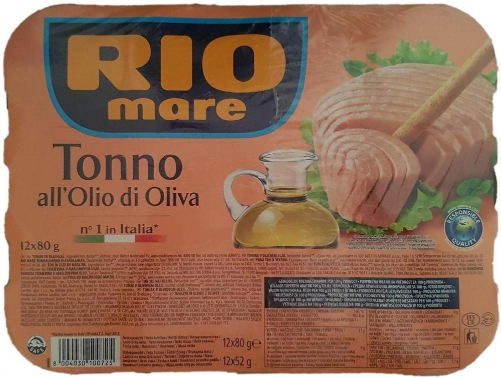 Rio Mare Tuna Fish Cans in Olive Oil 80g