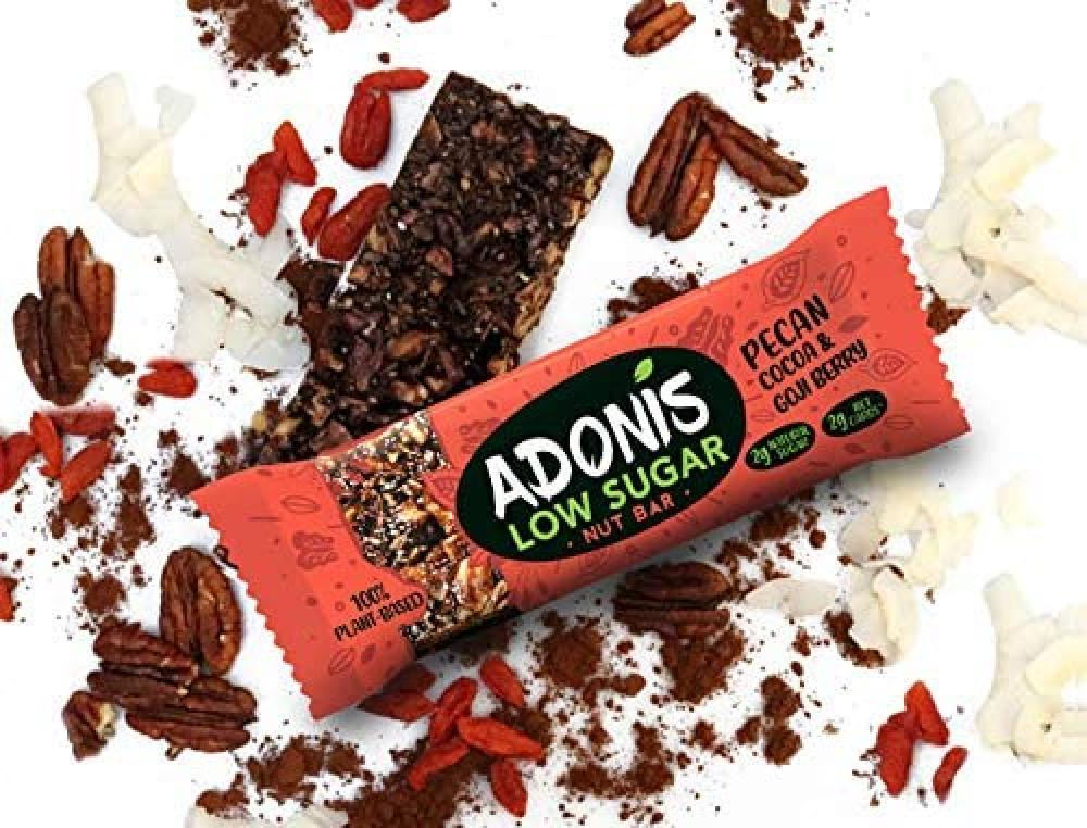 Adonis Pecan Cocoa And Goji Berry Nut Bar 35 g