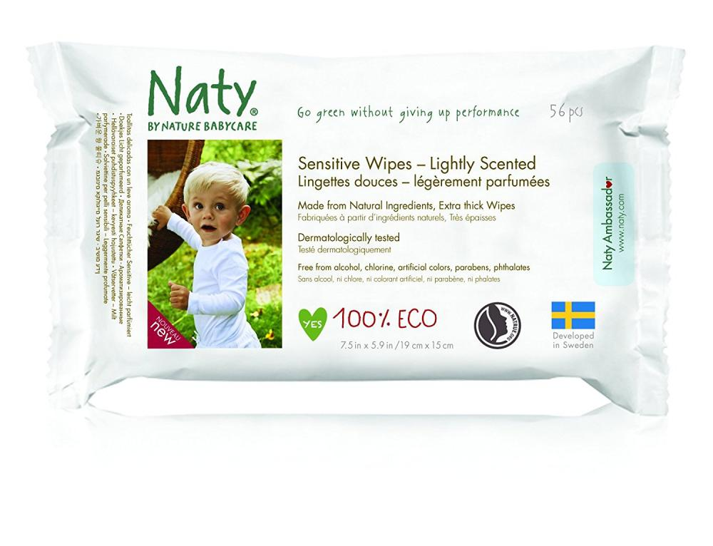 Naty By Nature Babycare ECO Lightly Scented Wipes 56 Pack