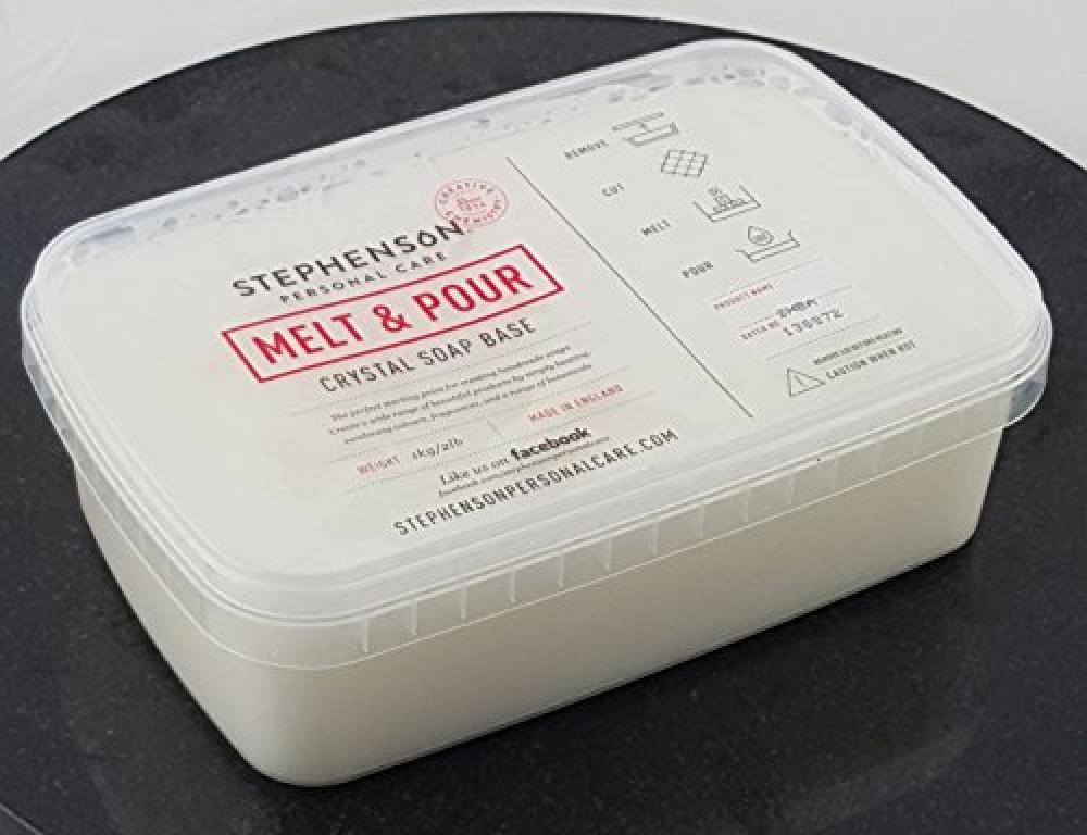 Stephensons Soap Melt and Pour Soap Base White 1kg