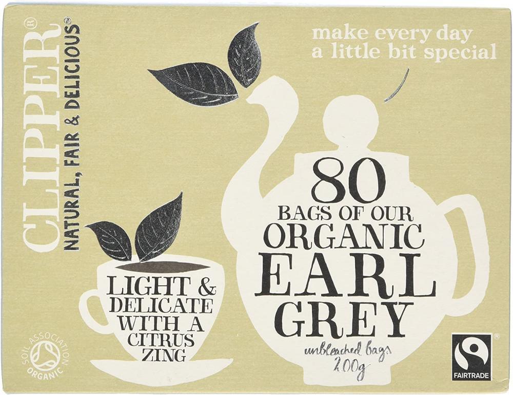 Clipper Organic Earl Grey Tea Bag 80