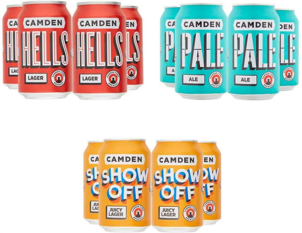 Camden Town Brewery Mixed Craft Beer case 12x330ml
