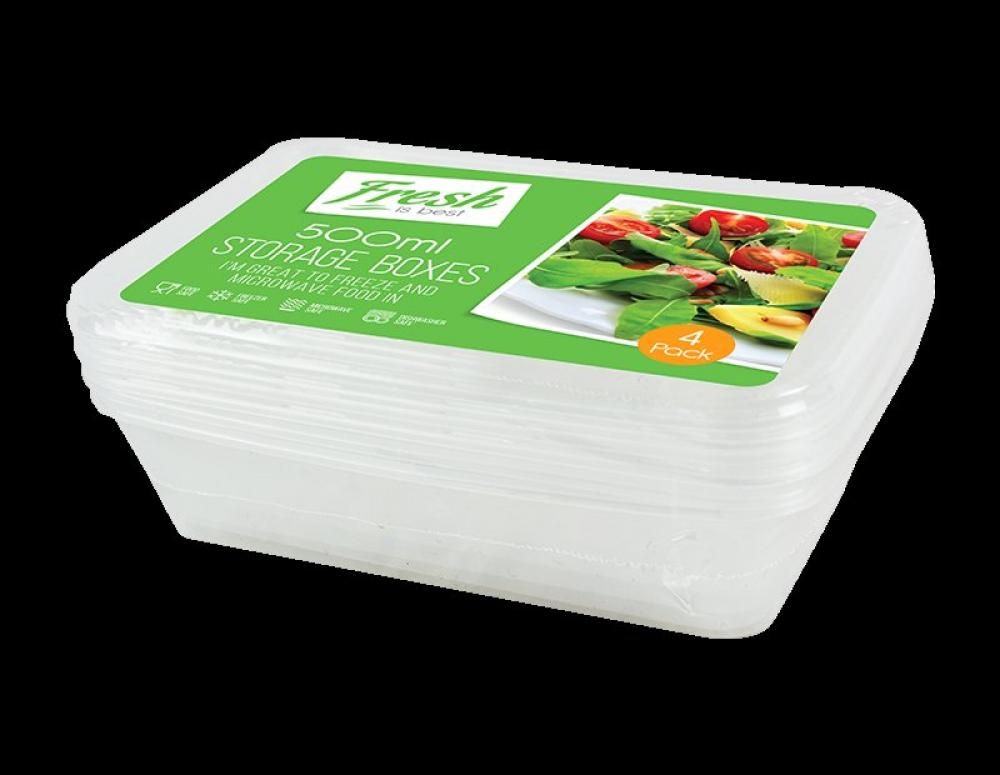 Fresh Is Best Food Storage Boxes 4 pack