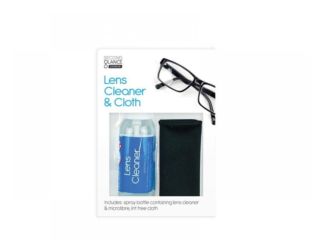 Second Glance Glasses Lens Cleaner and Cloth Set 30ml