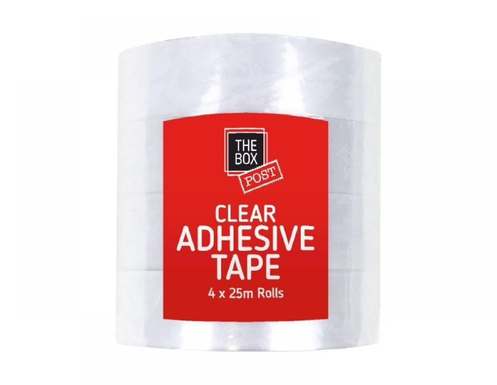 The Box Clear Adhesive Tape 4 pack
