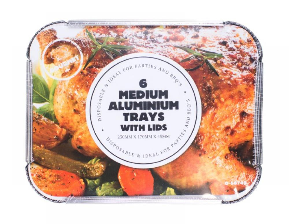Unbranded Aluminium Foil Trays 6 pack