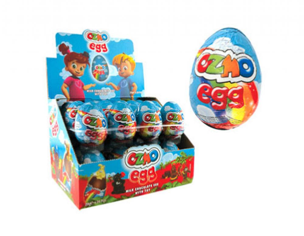 CASE PRICE  Ozmo Milk Chocolate Egg With Toy 24 x 20g