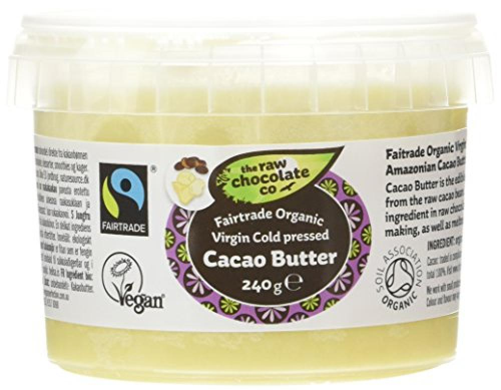 The Raw Chocolate Co Virgin Cold Pressed Cacao Butter 240g