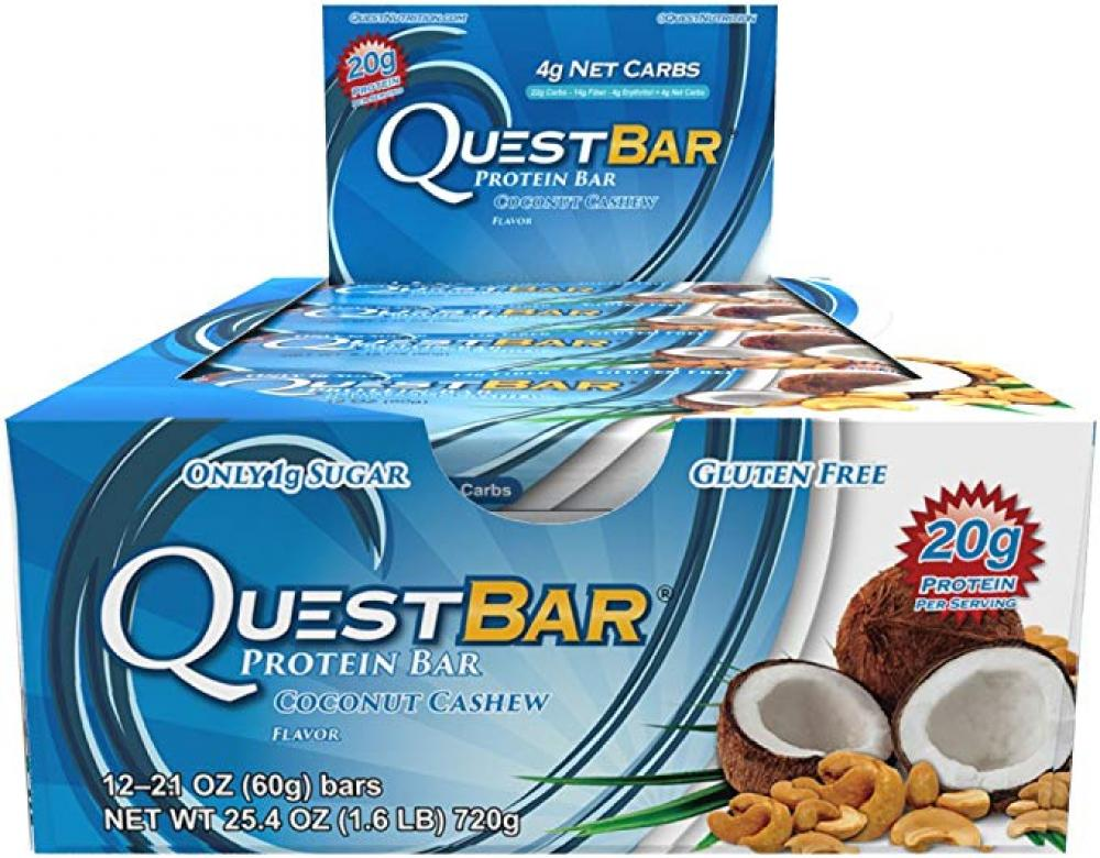 CASE PRICE  Quest Bar Coconut Cashew Protein Bar 60g x 12