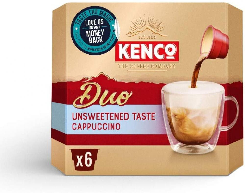 Kenco Duo Cappuccino Unsweetened Instant Coffee x6 duo servings