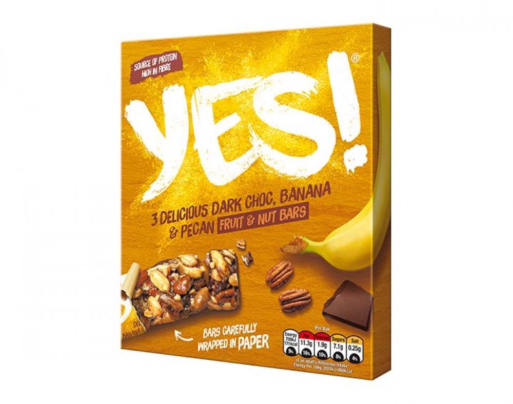 Yes Dark Choc Banana Pecan Fruit And Nut Bars 3x35g