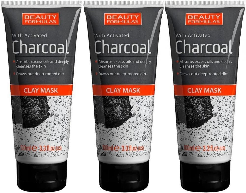 Beauty Formulas Charcoal Clay Mask 100ml