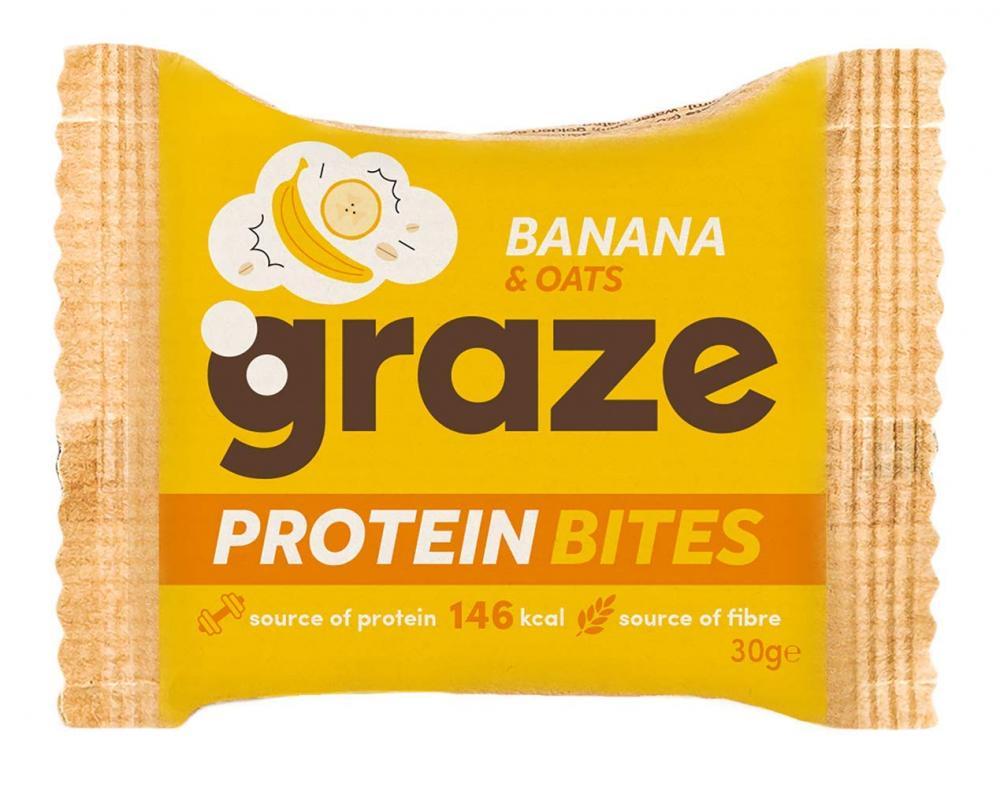 Graze Banana and Oats Vegan Protein Bites 30g