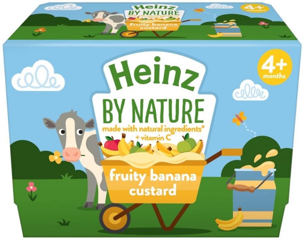 Heinz By Nature Fruity Banana Custard Pot 4 x 100 g
