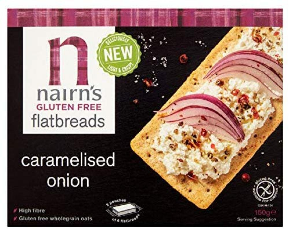 Nairns Gluten Free Caramelised Onion Flatbreads 150 g