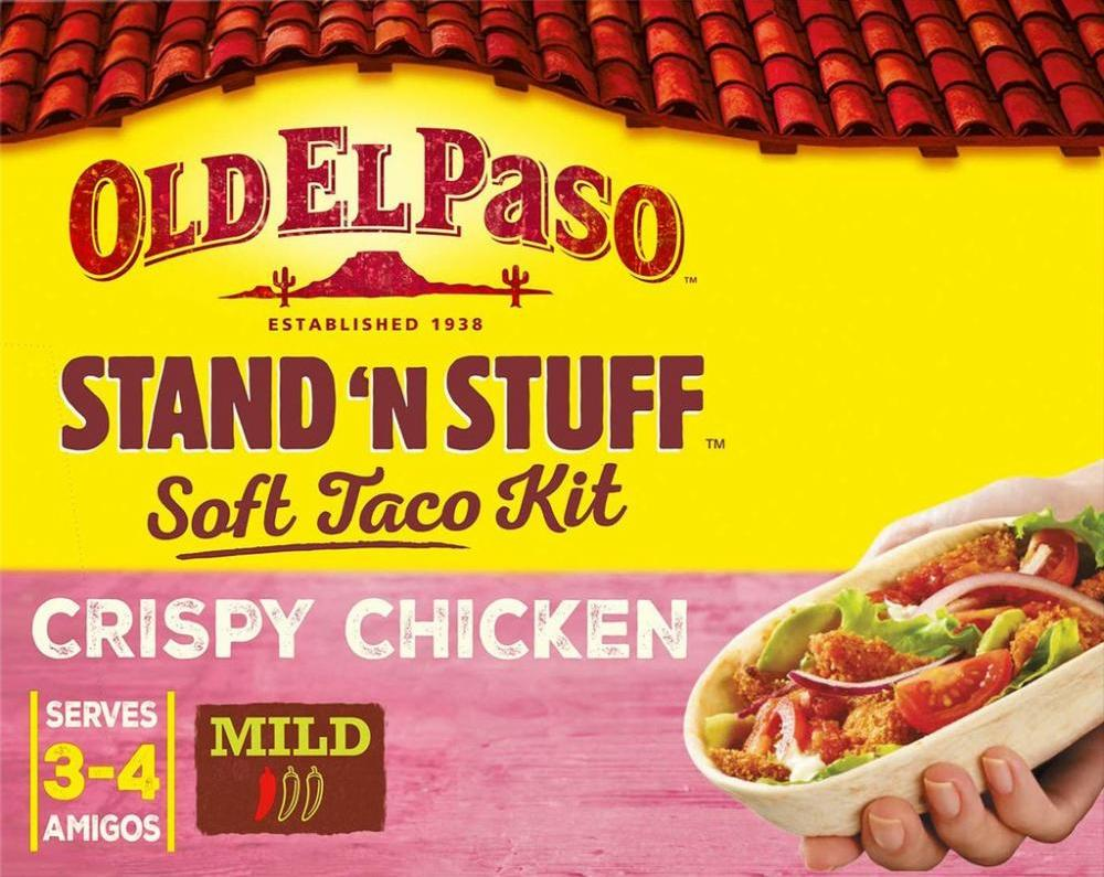 Old El Paso Stand and Stuff Crispy Chicken Soft Taco Kit 351g