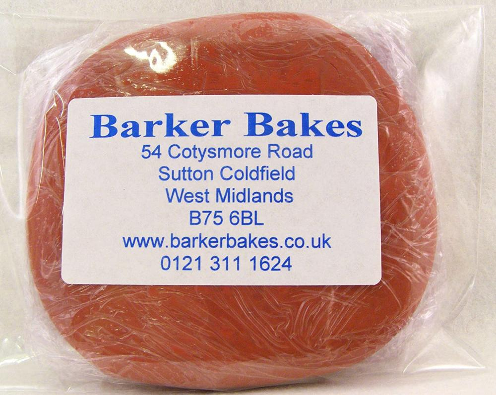 Barker Bakes Gelatine Free Burgundy Flowerpaste for Cake Decorating and Sugar Flowers 100g