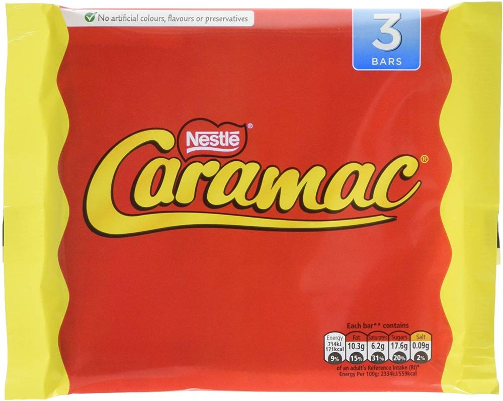 SALE  Nestle Caramac Multipack Chocolate Bars 3 x 30g