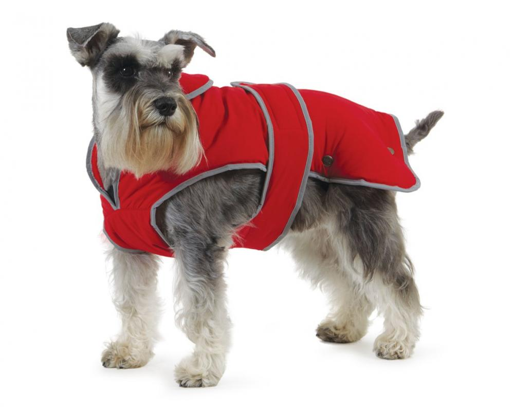 Ancol Muddy Paws Stormguard and Fleece Lining CoatRedX-Large