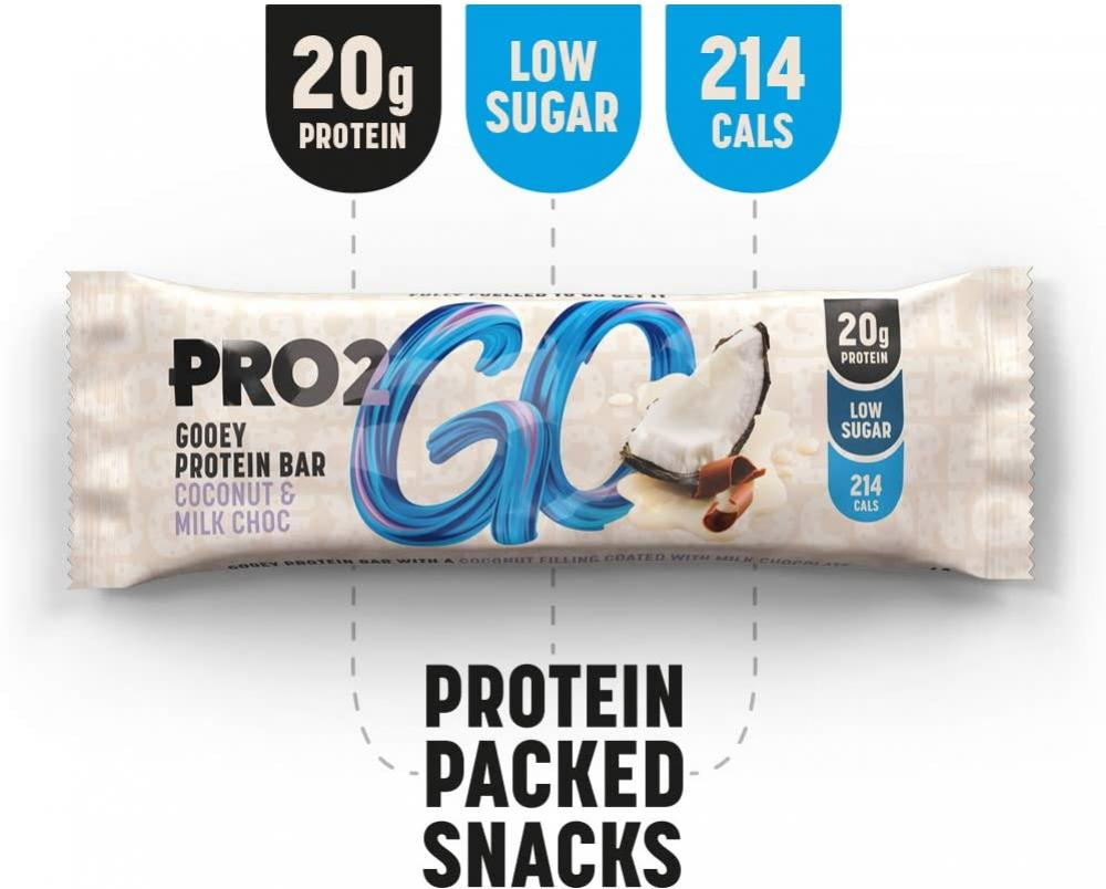 Pro 2Go High Protein Bar Coconut and Milk Chocolate 60 g