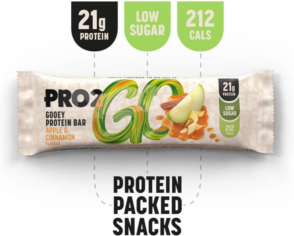 Pro 2Go High Protein Gooey Bar Apple and Cinnamon Flavour 60g