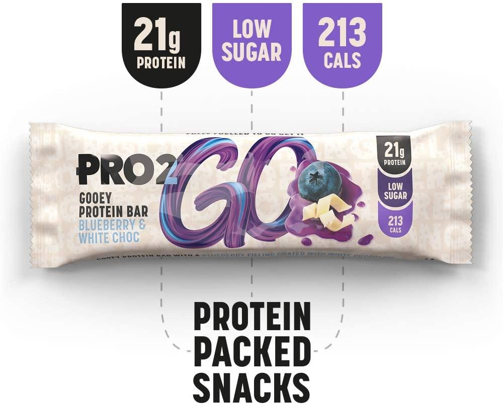 Pro 2Go High Protein Gooey Bar Blueberry and White Chocolate 60 g