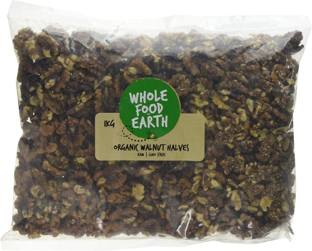 Wholefood Earth Organic Walnut Halves 1kg
