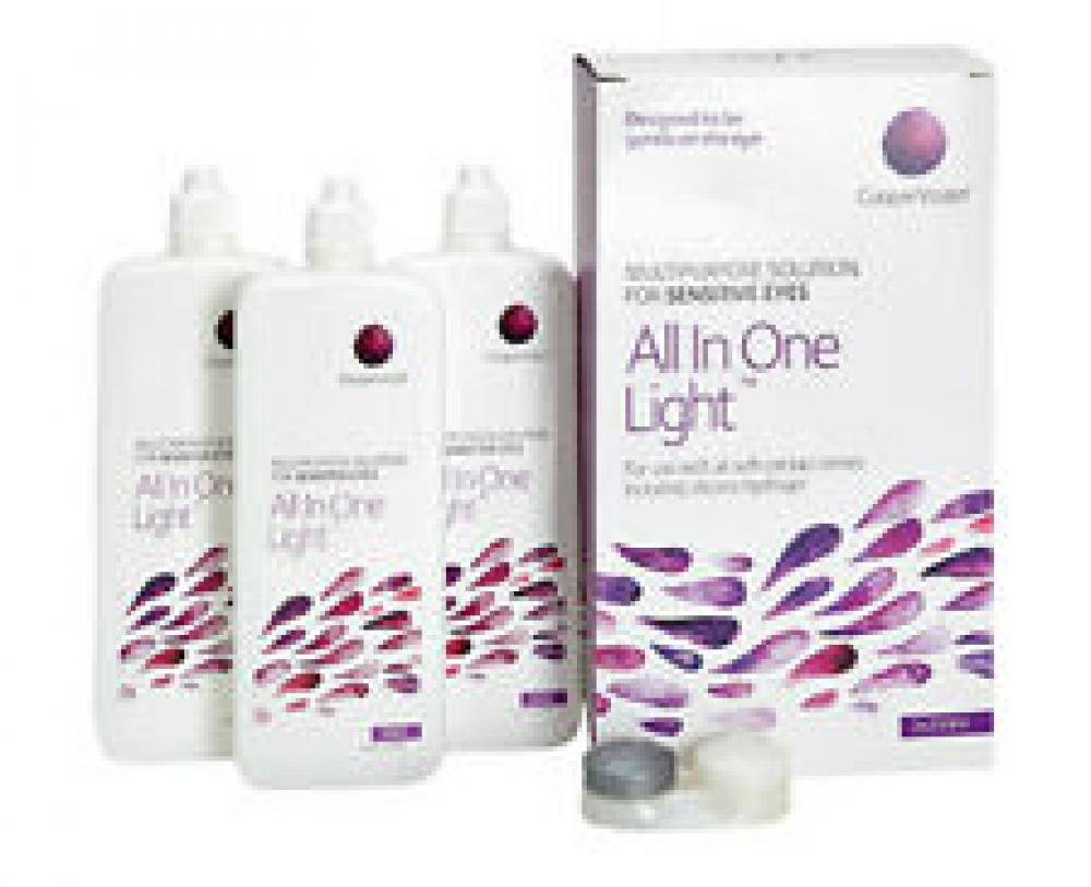 CooperVision All In One Light Contact Lens Solution 3 x 250 ml