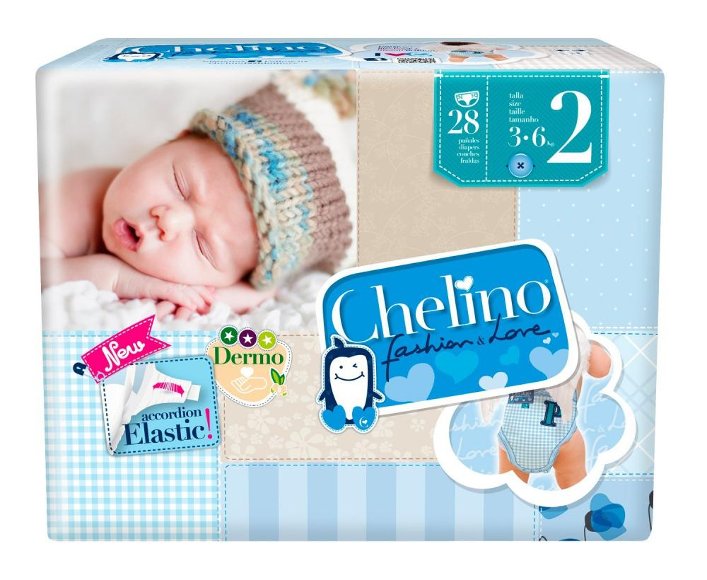 Chelino Fashion and Love Nappies Size 2 (3-6 kg) 28 Units