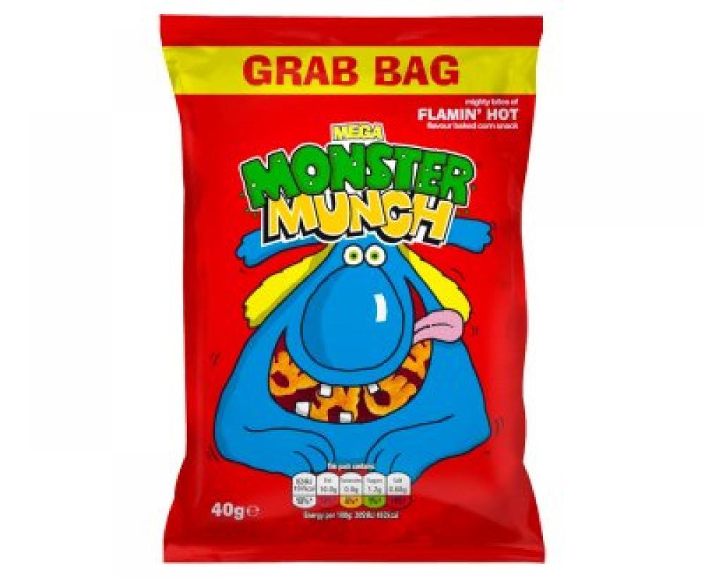 Walkers Mega Monster Munch Flamin Hot Snacks 40 g