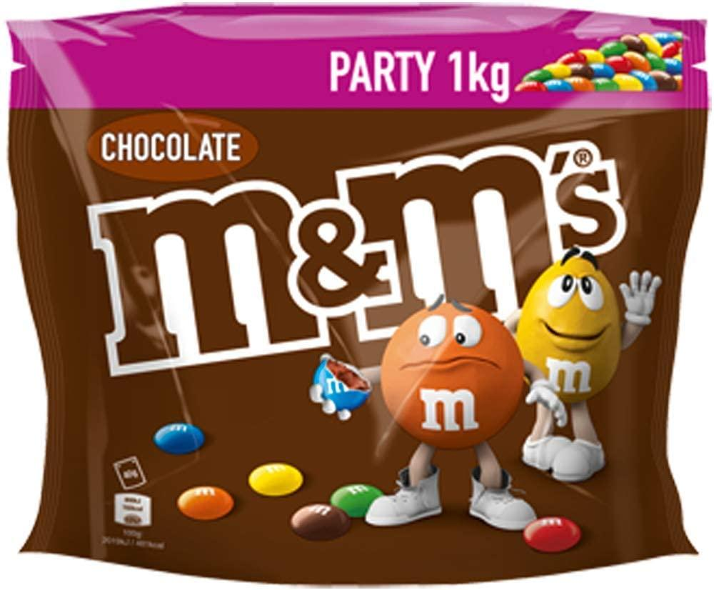 M and Ms Chocolate Party Bulk Bag 1kg