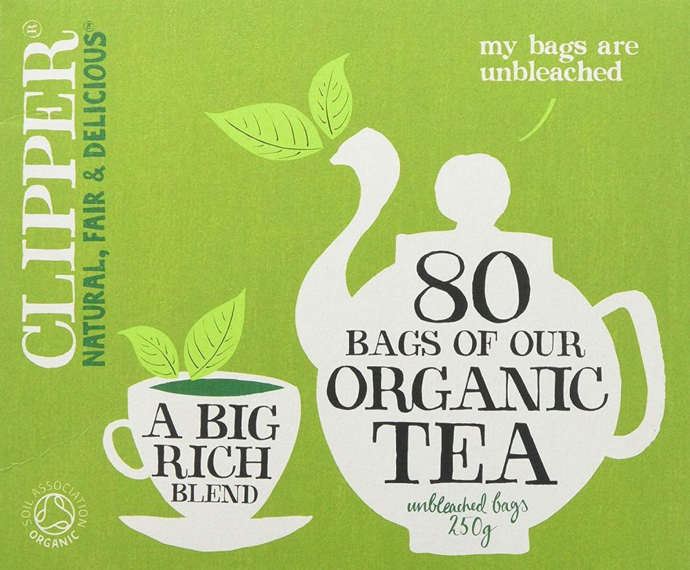 Clipper Organic Everyday 80 Teabags 250g